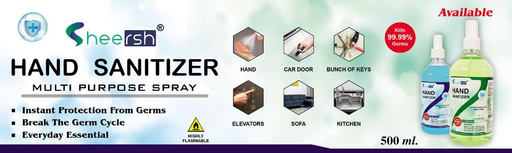 Sheersh Sanitizer 500 Ml.